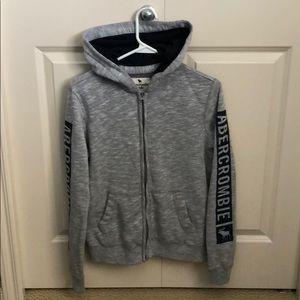 Boys Abercrombie zip up hoodie